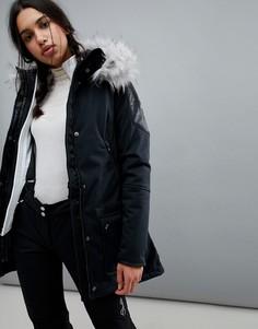 Горнолыжная куртка с искусственным мехом Spyder Helix - Черный