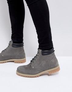 Ботинки из нубука Jack & Jones - Серый