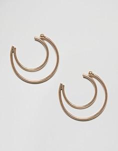 Серьги в форме полумесяца Nylon - Золотой