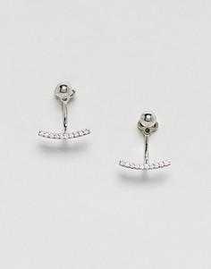 Серебристые серьги-гвоздики Nylon - Серебряный