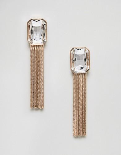 Серьги с кисточками и камнями Nylon - Золотой