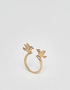 Кольцо с птицей Nylon - Золотой