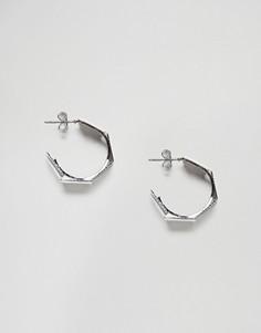 Серьги-гвоздики Nylon - Серебряный