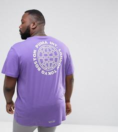 Футболка оверсайз Puma Plus - Фиолетовый