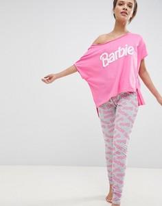 Пижамный комплект Barbie со свободной футболкой и леггинсами ASOS - Розовый