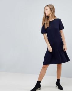 Свободное трикотажное платье Vila - Темно-синий