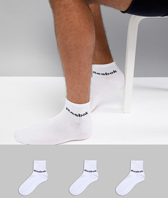 3 пары белых носков Reebok Training AB5273 - Белый