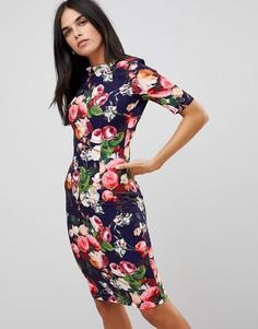 Платье с цветочным принтом на юбке Paperdolls - Мульти
