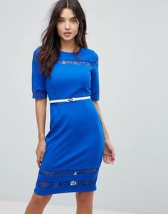 Платье-футляр с отделкой Paperdolls - Синий