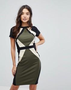 Платье-футляр в стиле колор блок Paperdolls - Мульти