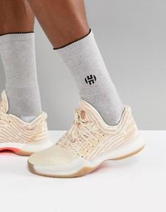 Белые кроссовки adidas Basketball x Harden Vol 1 Driveway Primeknit AP9840 - Белый