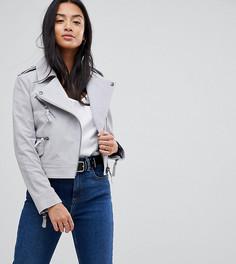 Замшевая куртка ASOS PETITE - Серый