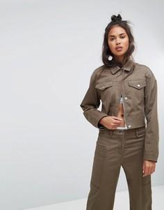 Укороченная куртка Calvin Klein Jeans - Зеленый