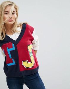 Джемпер в университетском стиле Tommy Jeans - Темно-синий