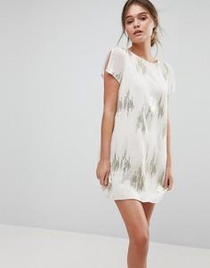 Платье с пайетками Liquorish - Кремовый