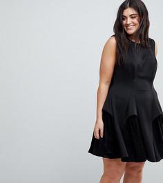 Кружевное платье мини ASOS CURVE - Черный