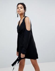 Платье с открытыми плечами Keepsake - Черный