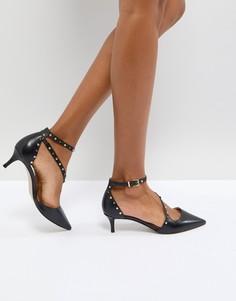 Туфли на каблуке-рюмочке с ремешками и отделкой Carvela Aspire - Черный