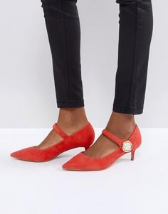 Красные замшевые туфли на каблуке-рюмочка Carvela Argonite - Красный
