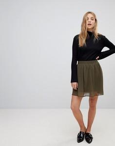Короткая расклешенная юбка Vero Moda - Зеленый