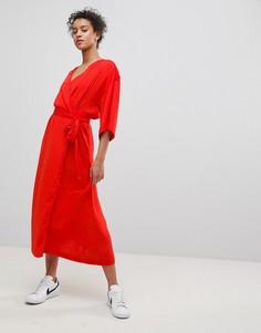 Платье с запахом Moss Copenhagen - Красный