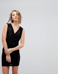 Платье со свободным воротом Religion - Черный