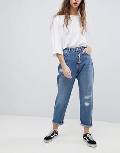 Синие свободные джинсы бойфренда ASOS - Синий