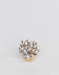 Эффектное кольцо ASOS - Золотой