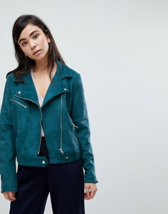 Байкерская куртка из искусственной замши Soaked In Luxury - Синий