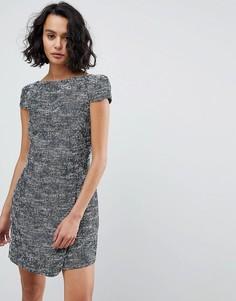 Свободное платье с принтом See U Soon - Темно-синий