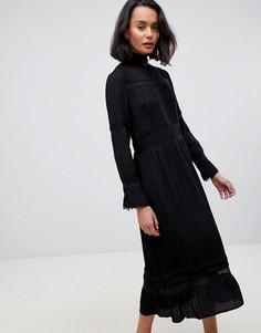 Платье миди See U Soon Peasant - Черный