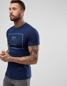 Темно-синяя футболка с логотипом Hype - Темно-синий