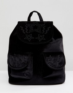 Бархатный рюкзак со звездами Skinnydip - Черный