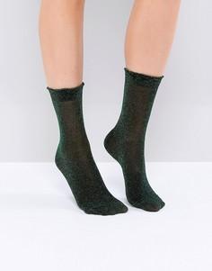 Носки металлик Monki - Зеленый