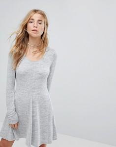 Платье с овальным вырезом Hollister - Серый