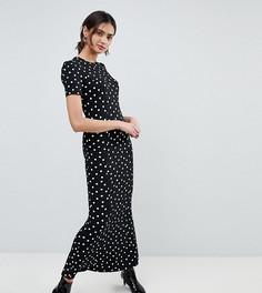 Чайное платье макси в горошек ASOS TALL - Мульти