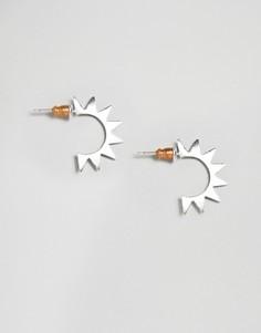 Серьги-кольца ограниченной серии с шипами - Серебряный Asos