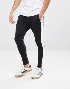 Спортивные штаны с контрастными полосками Only & Sons - Черный