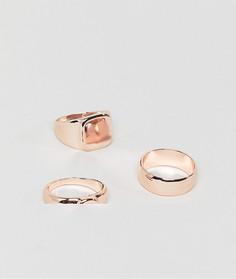 3 кольца DesignB эксклюзивно для ASOS - Золотой