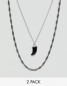 Набор ожерелий (2 шт.) DesignB эксклюзивно для ASOS - Серебряный
