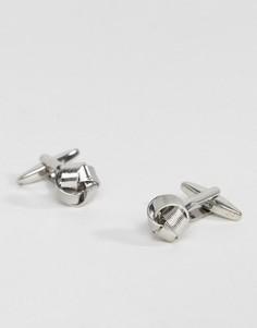 Серебристые запонки в форме узелков DesignB эксклюзивно для ASOS - Серебряный
