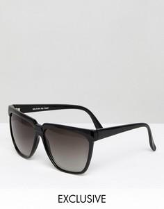 Квадратные черные солнцезащитные очки Reclaimed Vintage Inspired - Черный