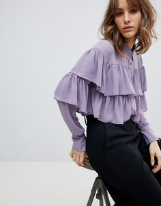 Блузка с оборками Unique 21 - Фиолетовый