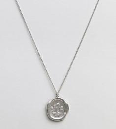 Матовое серебряное ожерелье с подвеской Serge DeNimes - Серебряный
