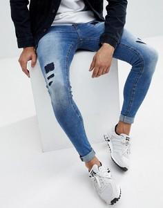 Светлые джинсы скинни с рваной отделкой Blend Flurry - Синий