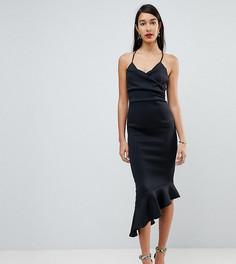 Платье миди на бретелях ASOS TALL - Черный