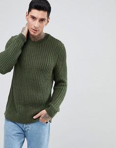 Джемпер в рубчик цвета хаки ASOS - Зеленый