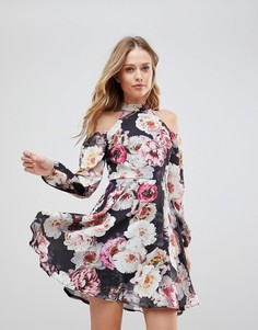 Приталенное платье с цветочным принтом Jessica Wright - Мульти