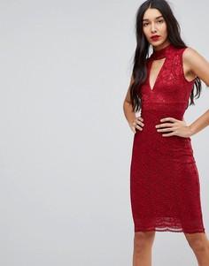 Облегающее платье с чокером Jessica Wright - Красный