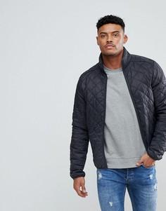 Темно-серая стеганая куртка Blend - Серый